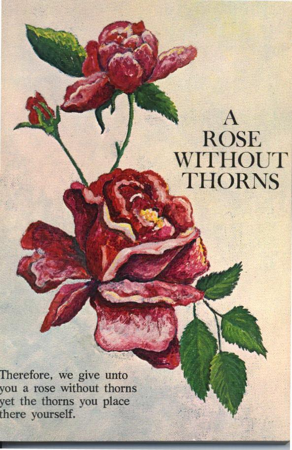 no rose without thorn essay Roses and thorns essay the thorn, should never crave for the rose thorns dont stop us oblivious to the rose so no success is achieved without.
